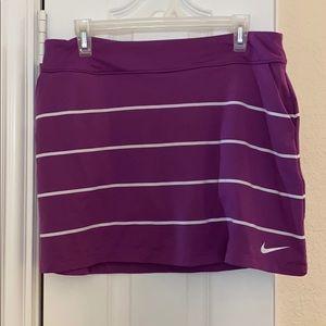 Nike Tournament Knit Striped Golf Skirt/Skort